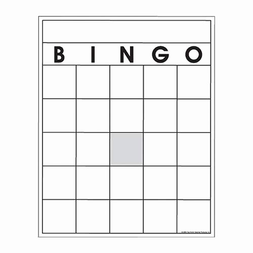 Free Blank Bingo Template New Amazon Blank Bingo Cards Sports & Outdoors