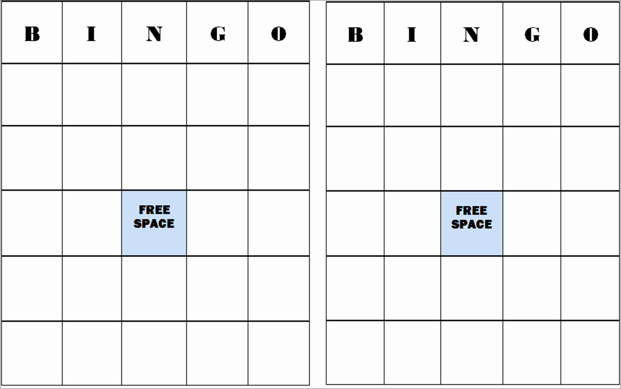 Free Blank Bingo Template Unique 9 Best Of Printable Human Bingo Templates Human