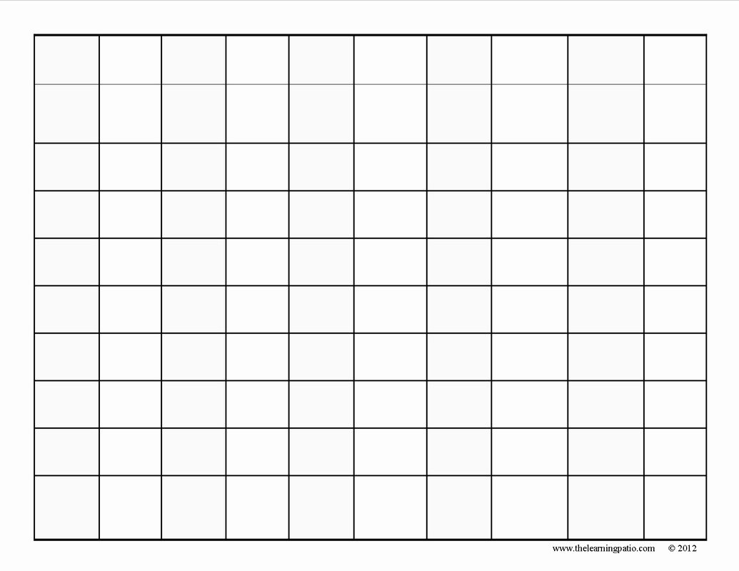 Free Blank Chart Templates Fresh Blank Hundreds Chart