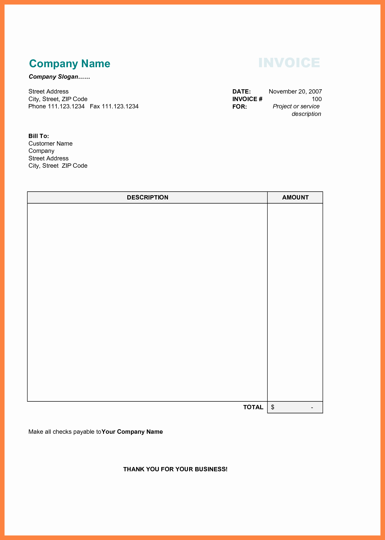 Free Blank Invoice Beautiful Free Printable Business Invoice Template Invoice format