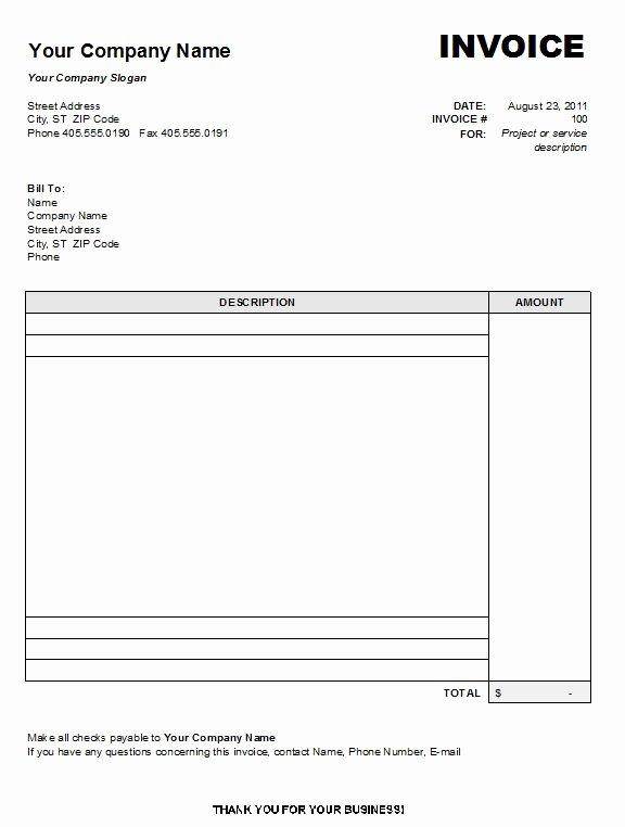 Free Blank Invoice Inspirational Free Printable Invoice Template Uk