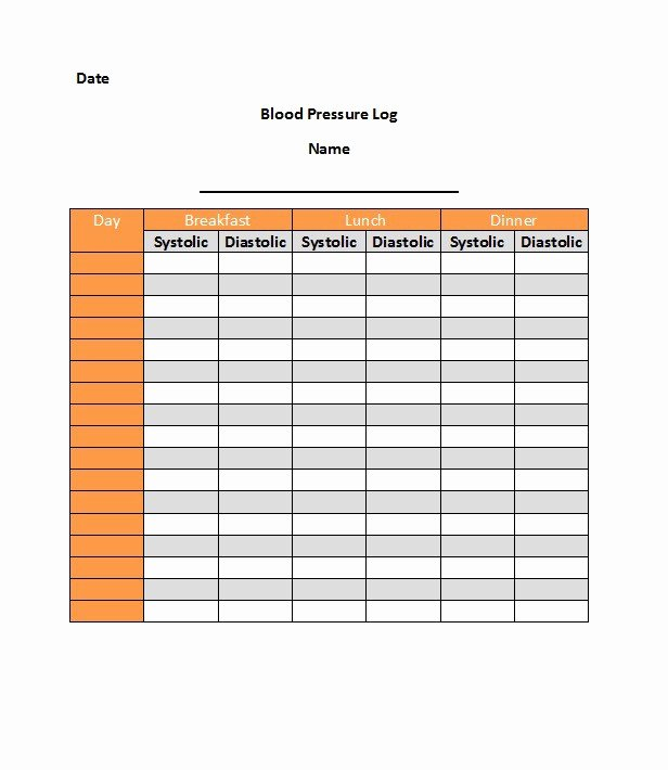 Free Blood Pressure Log Best Of 30 Printable Blood Pressure Log Templates Template Lab