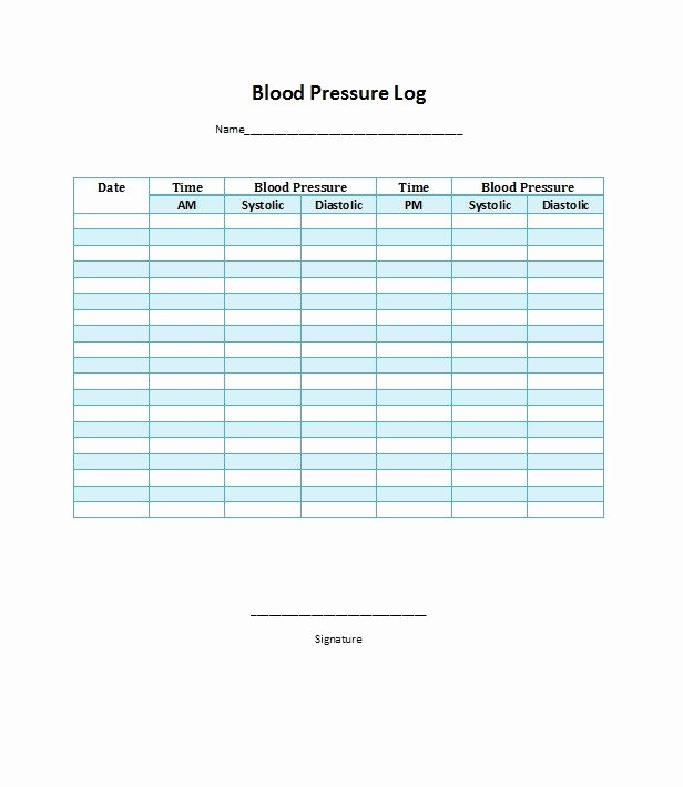 Free Blood Pressure Log Lovely 30 Printable Blood Pressure Log Templates Template Lab