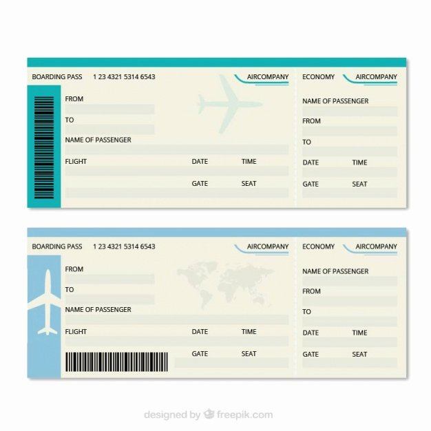 Free Boarding Pass Template Awesome Great Boarding Pass Template Vector