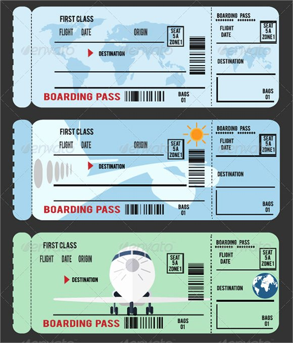 Free Boarding Pass Template Best Of Free 15 Boarding Pass Samples In Pdf Psd Vector