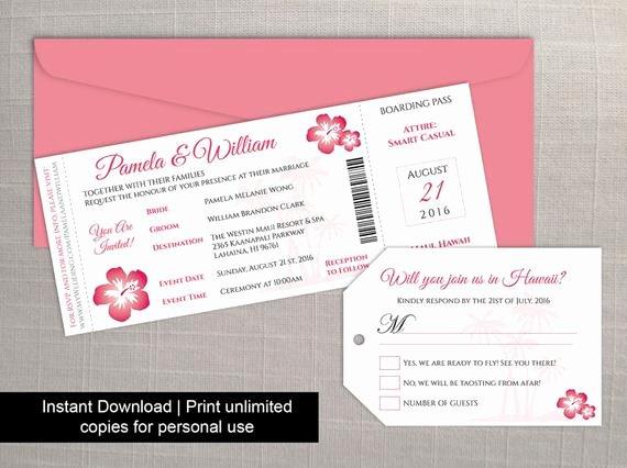 Free Boarding Pass Template Elegant Diy Printable Wedding Boarding Pass Luggage Tag Template