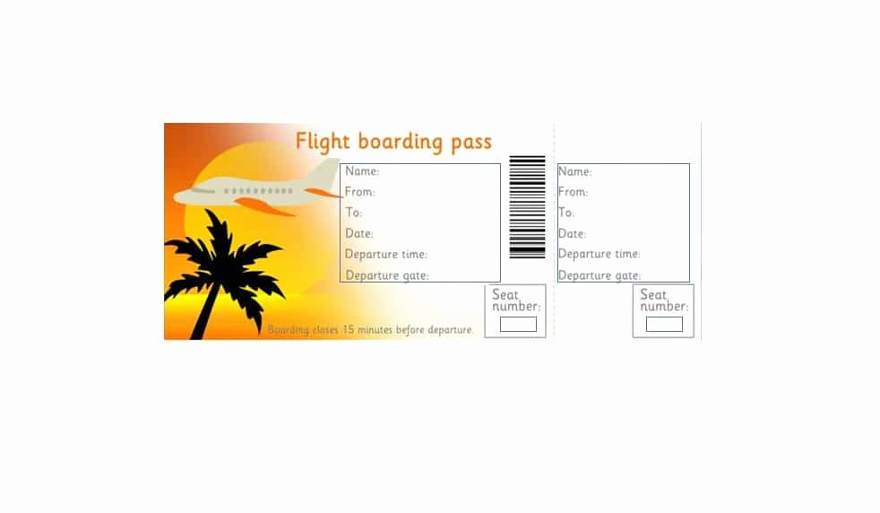 Free Boarding Pass Template Fresh 16 Real & Fake Boarding Pass Templates Free