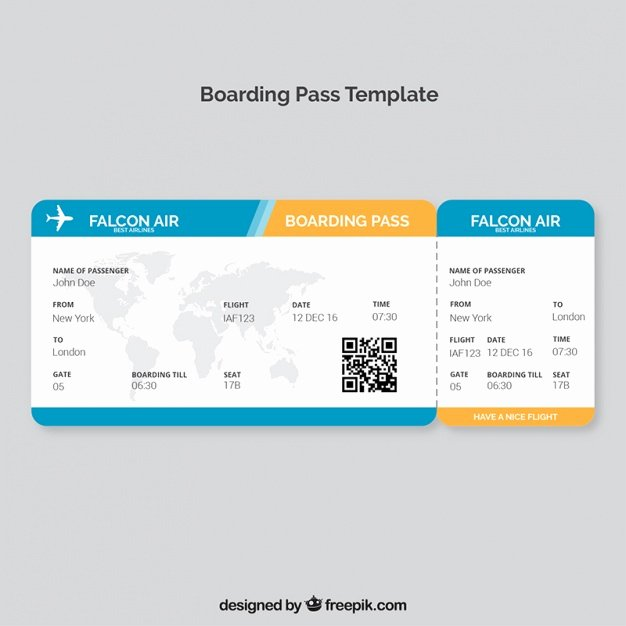 Free Boarding Pass Template Inspirational Boarding Pass Template with Map and Color Details Vector