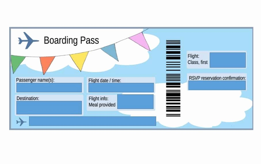 Free Boarding Pass Template New 16 Real & Fake Boarding Pass Templates Free