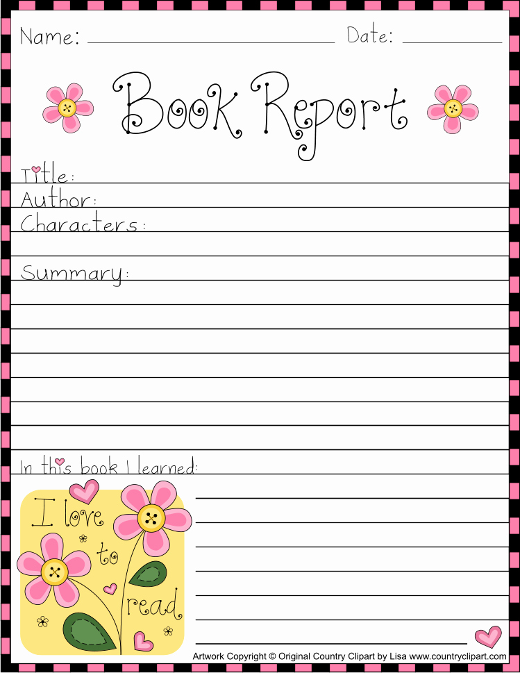 Free Book Report forms Best Of Free Printable Book Report form Sheets for Teachers and