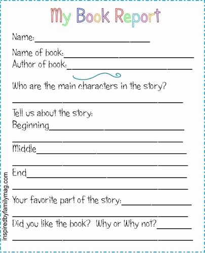 Free Book Report forms Elegant Book Report Guide Sheet Alabama Learning Exchange