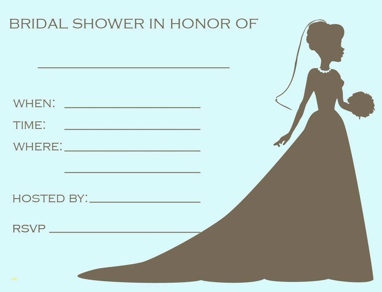 Free Bridal Shower Invitation Printables Beautiful 34 Stylish Bridal Shower Invitation Templates