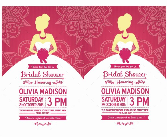 Free Bridal Shower Invitation Printables Best Of Free 37 Best Bridal Shower Invitation Templates In
