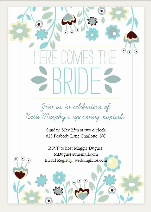 Free Bridal Shower Invitation Printables Fresh 13 Free Printable Bridal Shower Invitations with Style