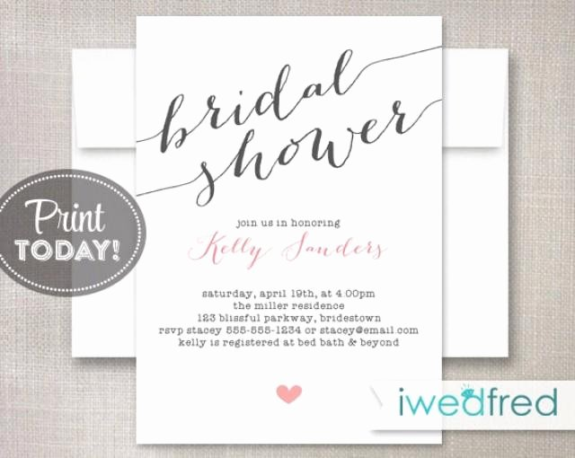 Free Bridal Shower Invitation Printables Fresh Bridal Shower Invitation Bridal Shower Invitation