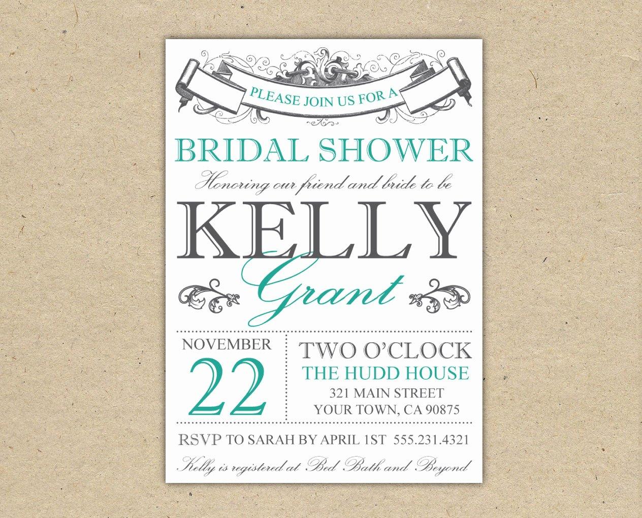 Free Bridal Shower Invitation Printables Fresh Bridal Shower Invitations Bridal Shower Invitations Free