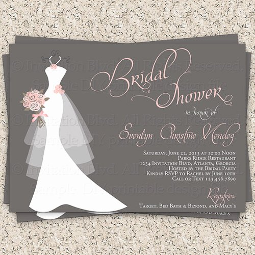 Free Bridal Shower Invitation Printables Inspirational 33 Psd Bridal Shower Invitations Templates