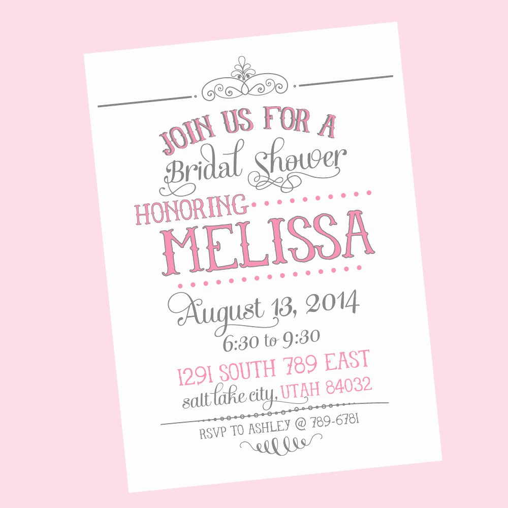 Free Bridal Shower Invitation Printables New Free Printable Wedding Shower Invitations Templates