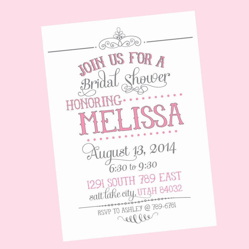 Free Bridal Shower Invitation Printables New Free Printable Wedding Shower Invitations Templates