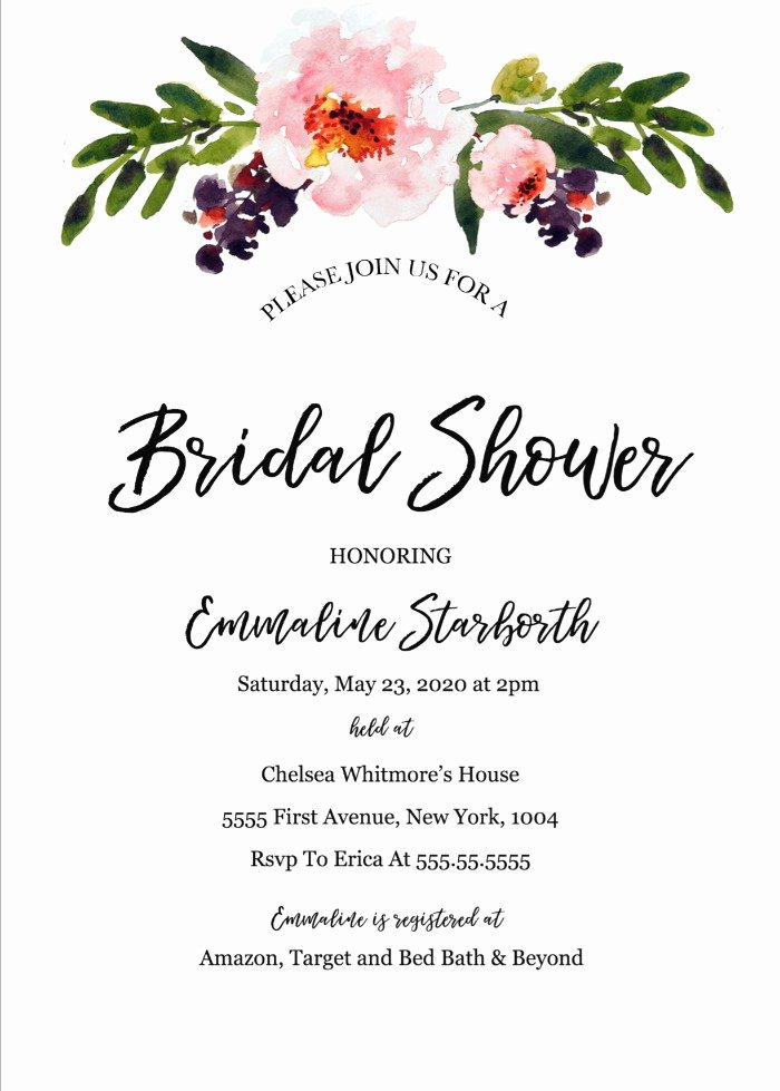 Free Bridal Shower Invitation Printables New Print Free Wedding Shower Invitation Template