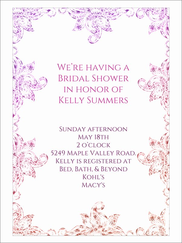 Free Bridal Shower Invitation Printables Unique 22 Free Bridal Shower Printable Invitations All Free