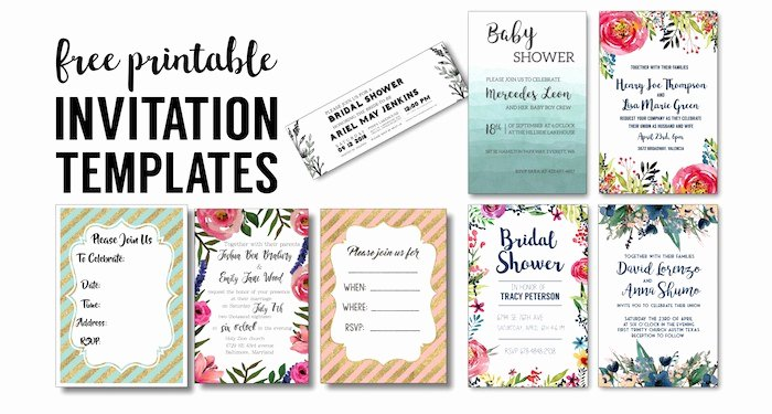 Free Bridal Shower Invitation Printables Unique Party Invitation Templates Free Printables Paper Trail