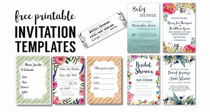 Free Bridal Shower Invitation Printables Unique Party Invitation Templates Free Printables Paper Trail