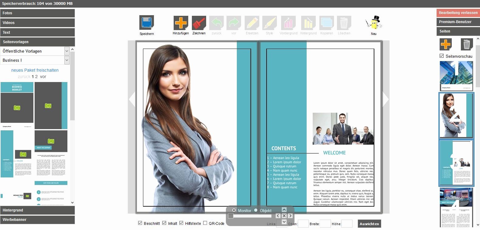 Free Brochure Maker Online Awesome Mag Glance Free Online Brochure Maker