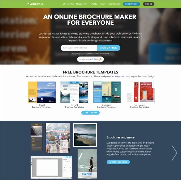 Free Brochure Maker Online Unique 23 Free Brochure Maker tools to Create Your Own Brochure
