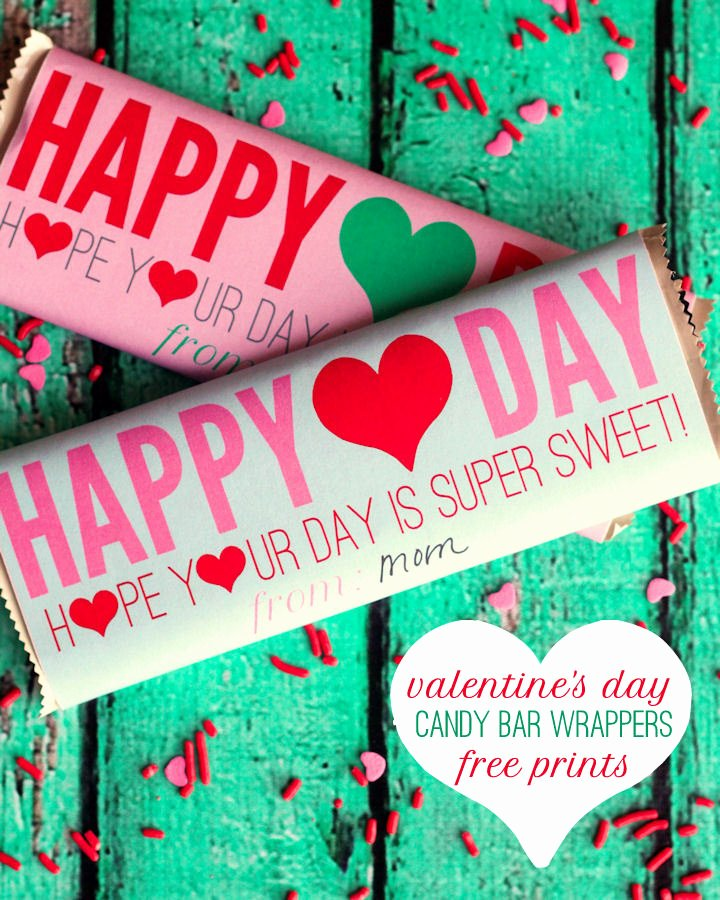 Free Candy Bar Wrappers Awesome 25 Free Valentine S Day Printables