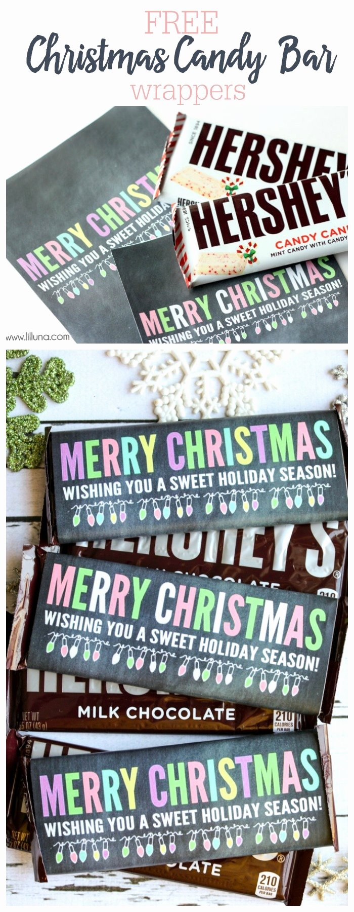 Free Candy Bar Wrappers Awesome Merry Christmas Candy Bar Wrappers