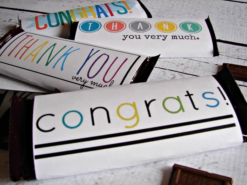 Free Candy Bar Wrappers Fresh Free Candy Bar Wrapper Thank You and Congrats Printables
