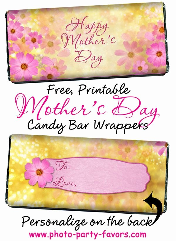 Free Candy Bar Wrappers Fresh Free Printable Floral Design Mother S Day Candy Bar