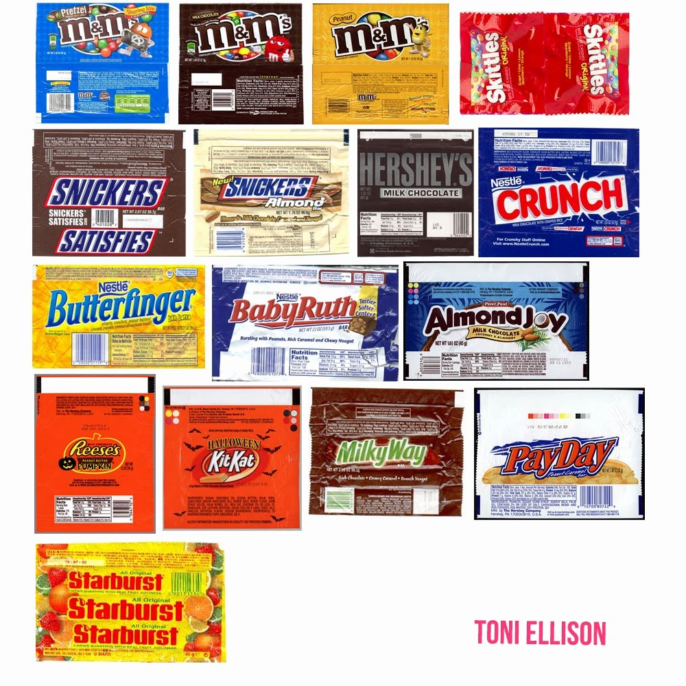Free Candy Bar Wrappers Inspirational toni Ellison Halloween Candy Wrapper Templates