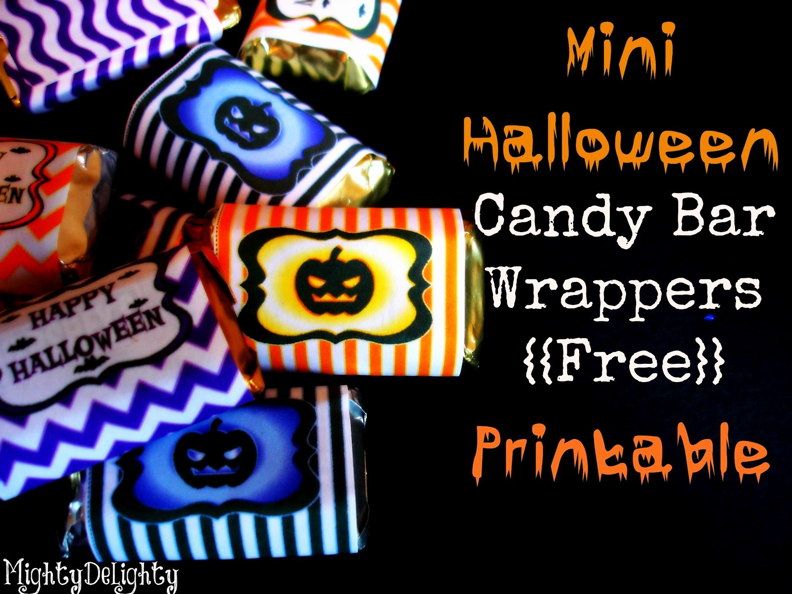 Free Candy Bar Wrappers Lovely Mighty Delighty Mini Halloween Candy Bar Wrappers Free