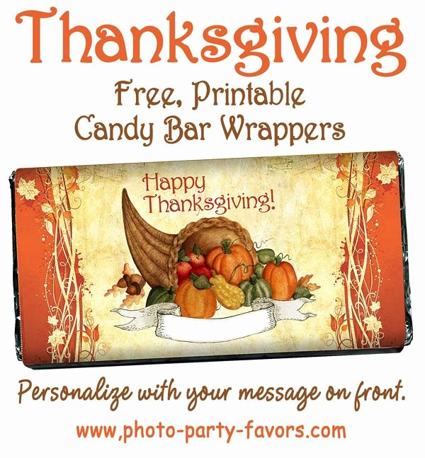 Free Candy Bar Wrappers Unique Diy Cornucopia Free Printable Candy Bar Wrappers for