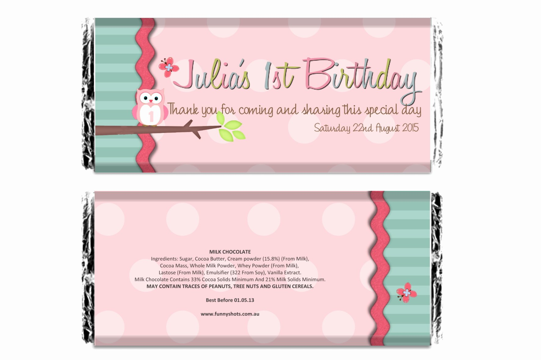 Free Candy Wrappers Template Inspirational Personalised Chocolate Bar Wrapper Only