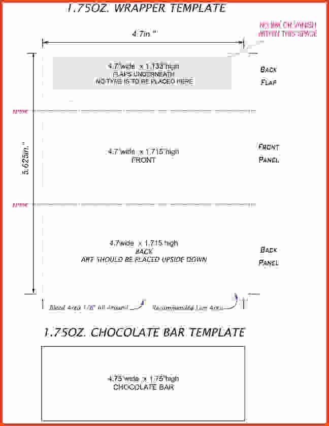 Free Candy Wrappers Template New Hershey Bar Wrapper Template