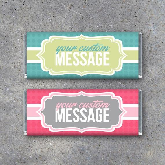 Free Candy Wrappers Template Unique Personalized Candy Bar Wrappers Printable Wrappers Featuring