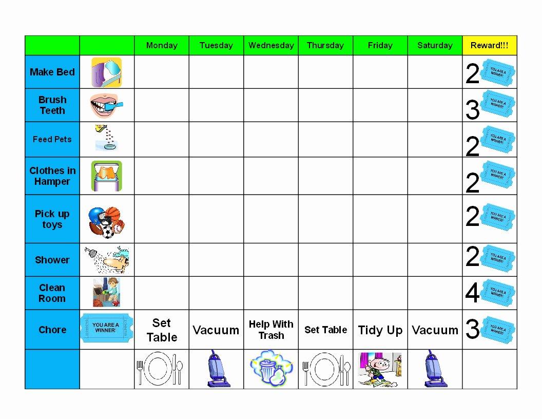 Free Chore Chart Printable Awesome Antjie Rooibruin Hen Kids Good Behaviour Chore Chart