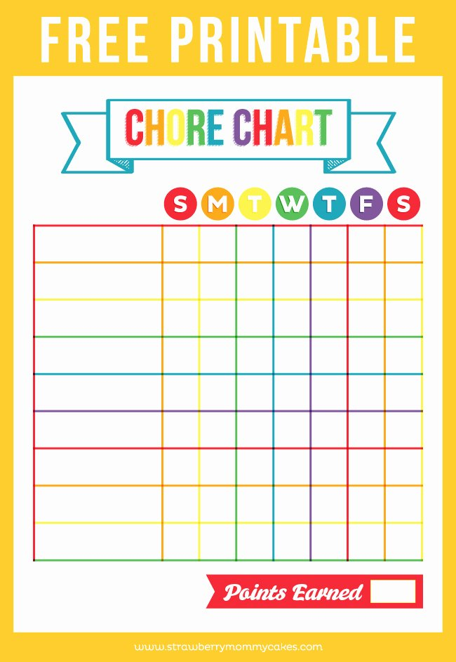 Free Chore Chart Printable Best Of Free Printable Chore Chart Printable Crush