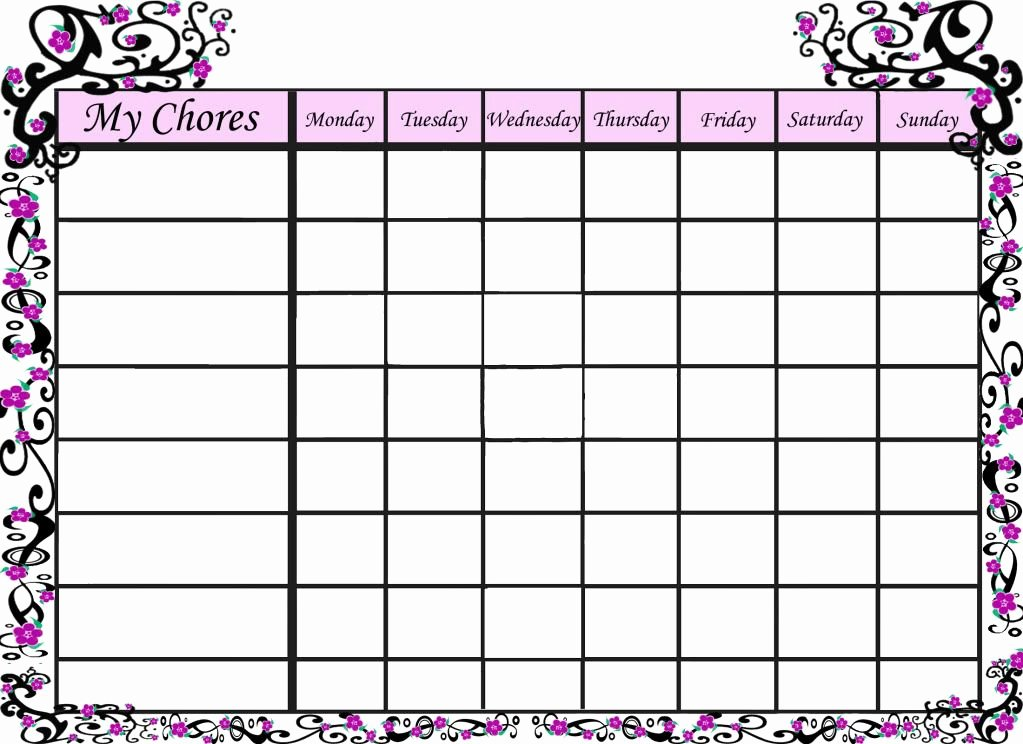 Free Chore Chart Printable Fresh Free Printable Sakura Chore Chart for Your Little Girl