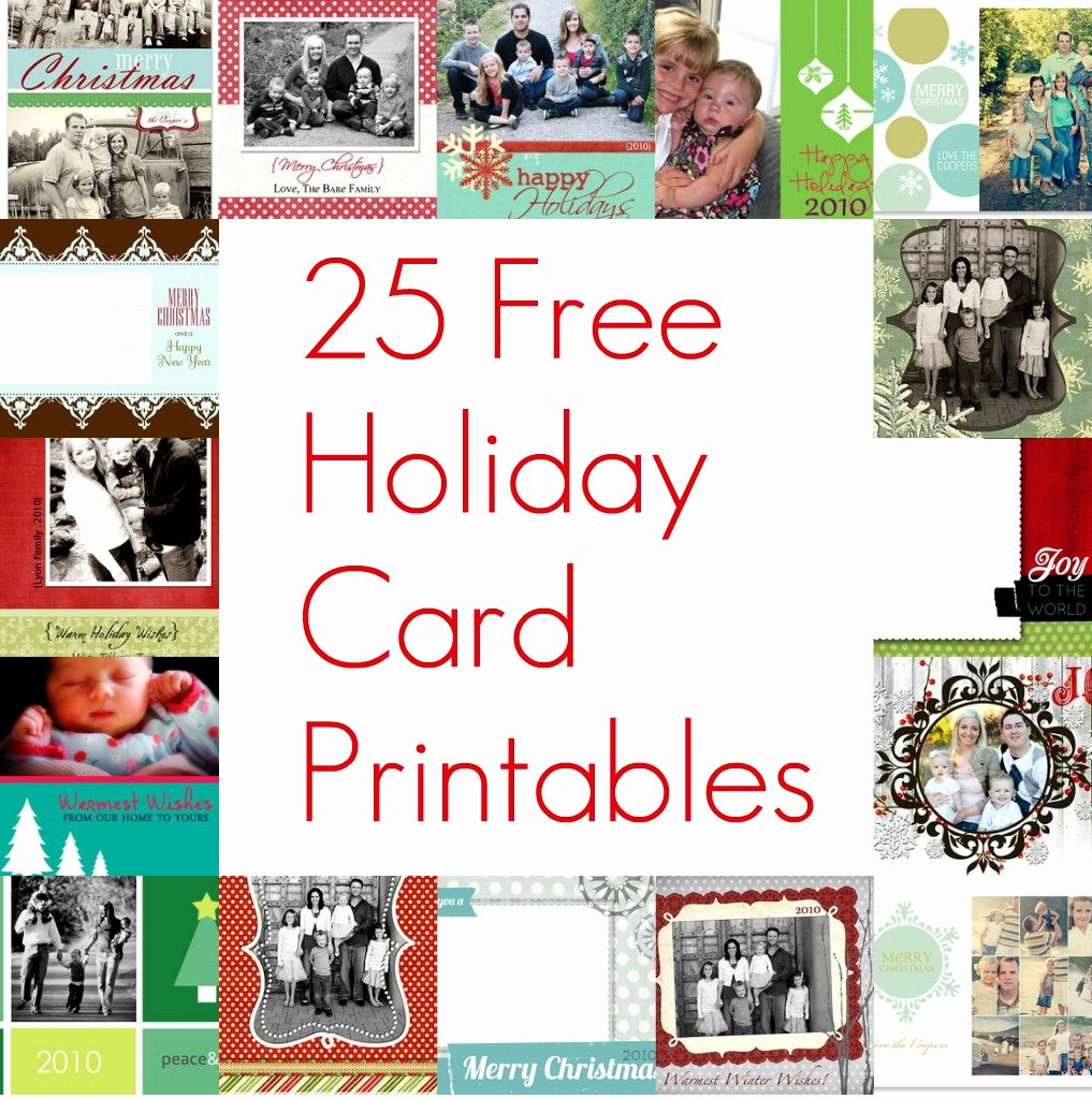 Free Christmas Photo Templates Unique Free Printable Christmas Card Inserts – Happy Holidays