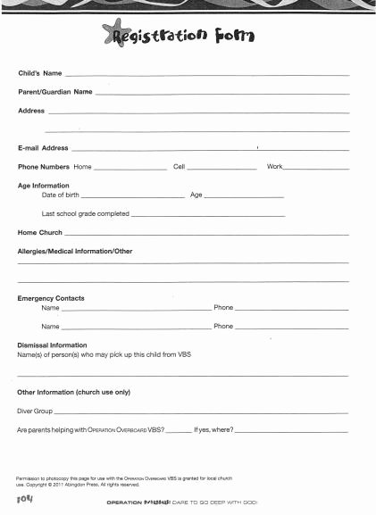 Free Church forms Printable Best Of Family Reunion Registration forms Printable
