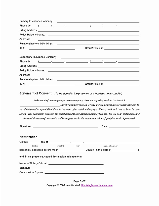 Free Church forms Printable Fresh 11 Best S Of Blank Medical Release form for