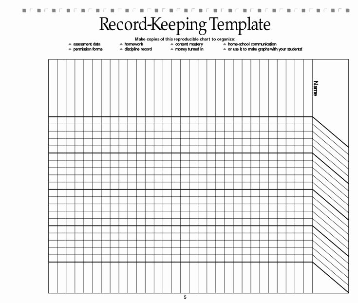 Free Church forms Printable Inspirational Free Printable Record Keeping forms