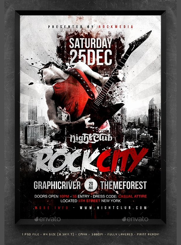 Free Concert Poster Templates Awesome 49 Poster Designs Free Psd Ai Vector Eps format