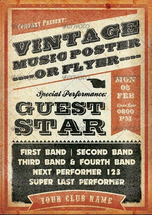 Free Concert Poster Templates Best Of 15 Old Poster Shop Templates Vintage Concert