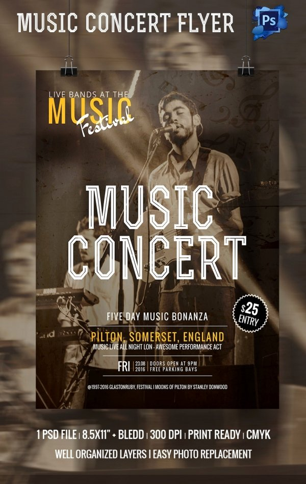 Free Concert Poster Templates Best Of 67 Business Flyer Templates – Free Psd Illustrator
