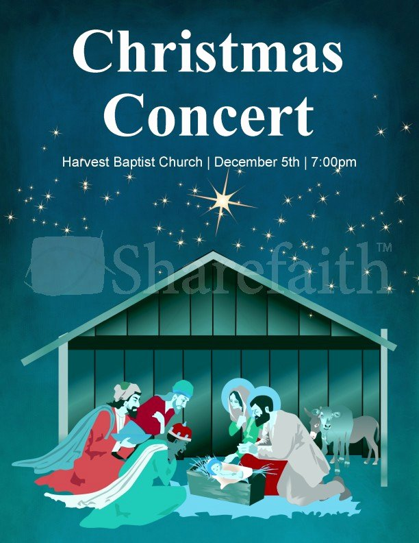 Free Concert Poster Templates Best Of Christmas Concert Flyer Template Template
